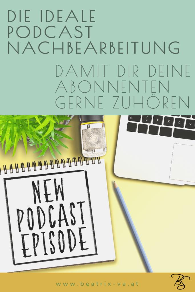 """Schreibblock mit Titel """"New Podcast Episode"""""""