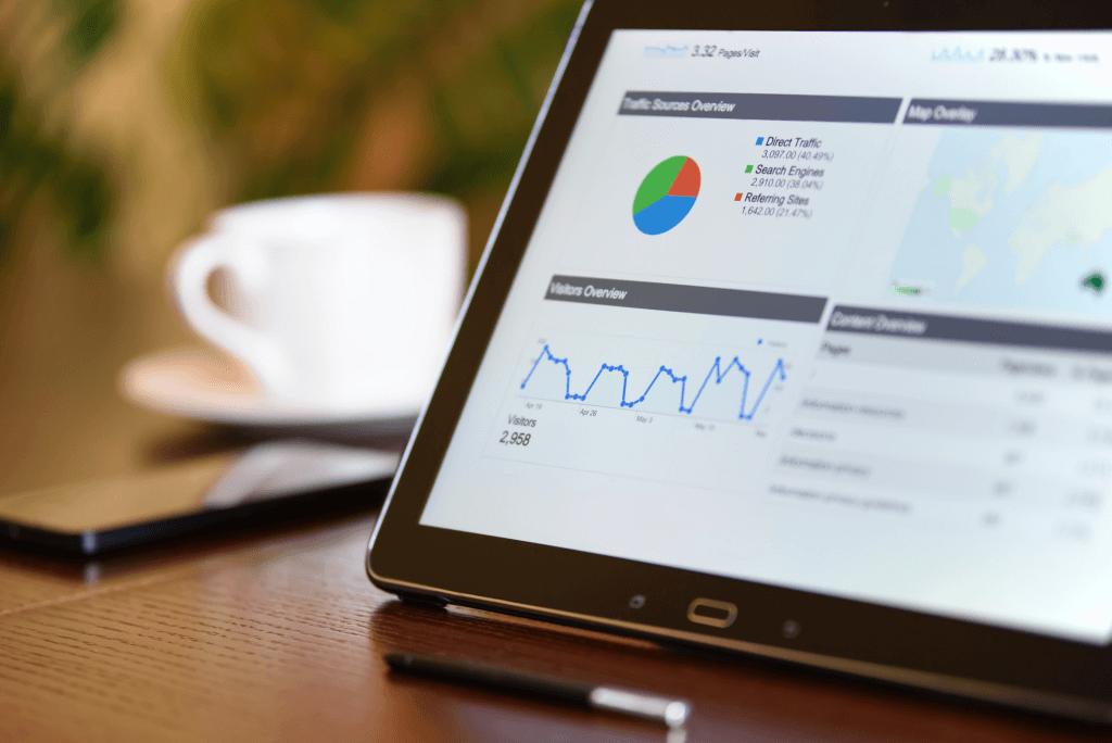 Google Analytics geöffnet auf Laptop