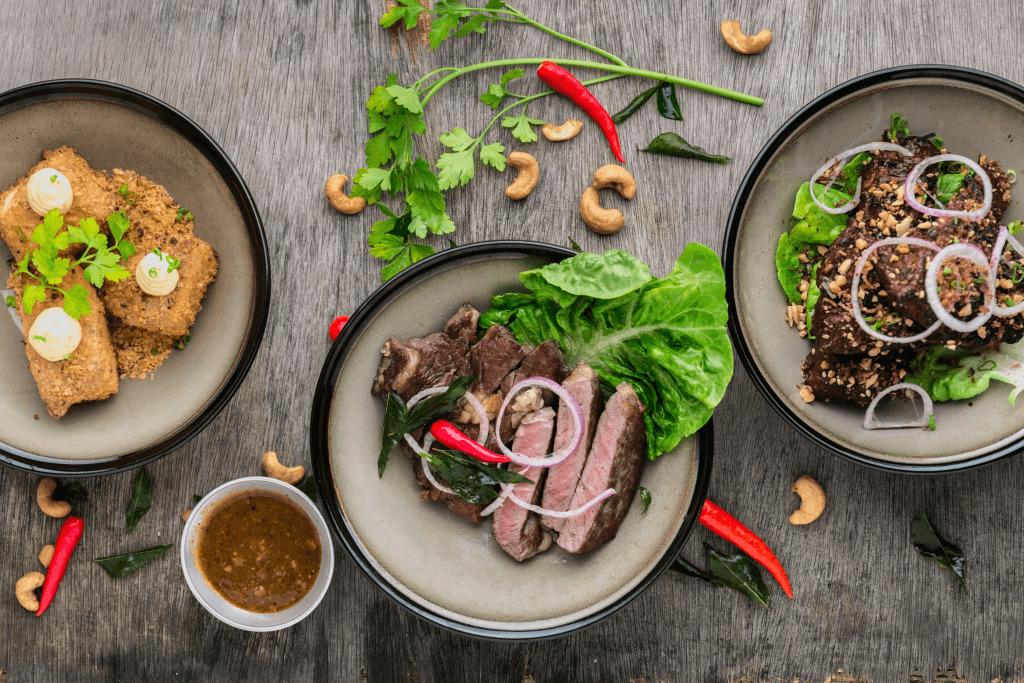 Drei Speisen kreativ in Szene gesetzt - Foodblog